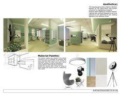 Interior design concept for a beauty center