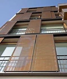 protección solar correderas plancha metal
