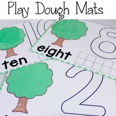 Tree Play Dough Mats Counting to 10 - seen these in the classroom today and I found them online! Math Classroom, Kindergarten Math, Toddler Preschool, Teaching Math, Toddler Activities, Preschool Activities, Classroom Ideas, Teaching Numbers, Playdough Activities