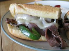 Philly Cheese Steak Sandwich (((Authentic))) * I used Schwan's Philly Steak and just used grilling seasoning and minced garlic. Authentic Philly Cheese Steak Recipe, Philly Cheese Steak Sandwich, Steak Recipes, Cooking Recipes, Entree Recipes, Burger Recipes, Lunch Recipes, Drink Recipes, Easy Recipes