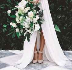 bouquet + shoes