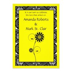 Black And Yellow Wedding Invitations