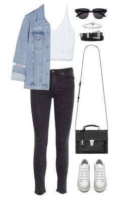 """""""Sans titre #838"""" by romane-inspiration ❤ liked on Polyvore featuring Zara, Acne Studios, Yves Saint Laurent and MICHAEL Michael Kors"""