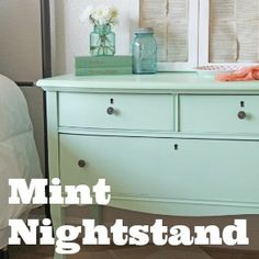 mint nursery | Container Gardening Ideas | Making Home Base  Need to get this Lowes olympic sweet pea paint for the baby changing station and dresser!