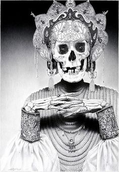 Laurie Lipton, The life and death in black & white | LUXE ET VANITES