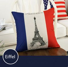 Find More Pillow Case Information about Pattern Fashion Linen Cushion Cover Pillow Case Home Decorative  Pillowcase Bedroom Pillowcover 45*45cm Eiffel,High Quality sofa cushion pattern,China cushion orange Suppliers, Cheap sofa cushions and covers from Winne on Aliexpress.com