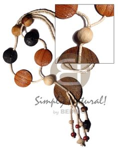 Exporter 2 Bleach White Coco Heishe W Assorted Coco Necklace sustainable unisex beach fashion jewelry. Wooden Necklace, Wooden Jewelry, Beaded Necklace, Shell Necklaces, Handmade Necklaces, Handmade Jewelry, Fashion Necklace, Fashion Jewelry, Summer Necklace