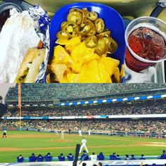 THINK BLUE: Last night was fun; #Dodgers #LAallDay #Munchies #Buchanans #Nachos #dodgerdog  by z_money213