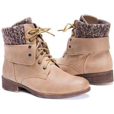 Women's Muk Luks Women's Knit Hiking BootsLight Brown/6 ($56) ❤ liked on Polyvore featuring shoes, boots, beige, boots & booties, knit shoes, beige shoes, muk luks boots, brown boots and brown colour shoes
