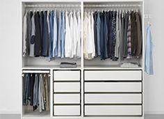 PAX Wardrobe - soft closing damper - IKEA - Our Home, The Barn - Kleiderschrank Bedroom Cupboard Designs, Bedroom Closet Design, Girl Bedroom Designs, Wardrobe Design, Closet Designs, Ikea Pax Wardrobe, Ikea Closet, Wardrobe Cabinets, Bedroom Wardrobe