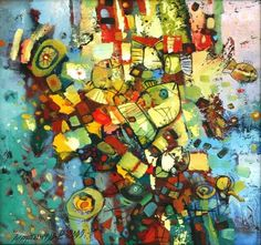 Painting for sale 'The underwater world' painting art sale expressionism fantastic art paintings