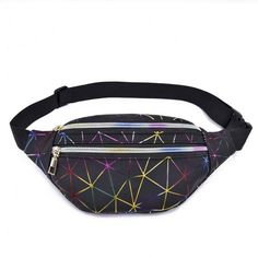 Red Pink Geometric Star Sport Waist Packs Fanny Pack Adjustable For Hike