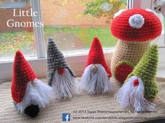 ENGLISH Instructions ONLY - Instant Download PDF Crochet Pattern : Little Gnomes with Mushroom Houses Christmas gnomes are secretive creatures from the tundra of Lapland. They spend most of the year underground making and baking sweet treats. On the days nearing Christmas they get more active and then, on that special day (Christmas), they hitch a ride on Santas sleigh and deliver sweets to everybody. Christmas gnomes are also very wise, wiser than their cousins, the garden gnomes. The…