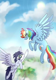 Soarin and Rainbow Dash My Little Pony Coloring, My Little Pony Drawing, My Little Pony Comic, My Little Pony Pictures, Rainbow Dash And Soarin, Moving Wallpapers, My Little Nieces, Mlp Fan Art, Imagenes My Little Pony
