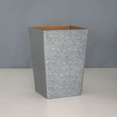 Recycled Paisley Waste Paper Bin Large