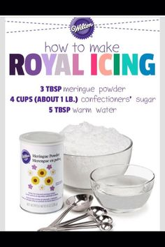 How To Make Royal Icing For Cake Decorating ❤️👌 - Cake Decorating Cupcake Ideen Sugar Cookie Icing, Royal Icing Cookies, Sugar Cookies Recipe, Cake Cookies, Cookies Kids, Fancy Cookies, Icing Frosting, Cake Icing, Frosting Recipes