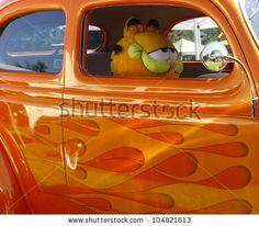 33 Coupe Paint Flames   HAMPTON, VA-JUNE 9:A 1934 Ford tudor at the 3rd annual HCS car show at ...