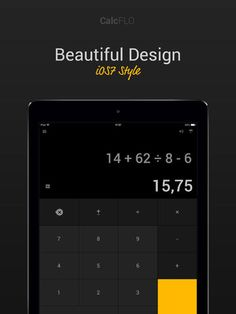 Kian Tan | Productivity | iPhone | Calc FLO Pro $0.00 | ver.1.1| $1.99 | ***** STYLISH IOS 7 CALCULATOR ******--FREE FOR LIMITED TIME-- $1.99 value!Calc FLO is a Stylish, Simple