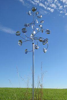 Windspiel Cumulus aus Edelstahl.