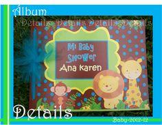 DETAILS SOUVENIRS FACEBOOK álbum de firmas personalizado para baby shower