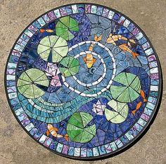 lily pad mosaic - Google Search: