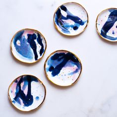 Ring Dish in Multi with Spotted Gold – Suite One Studio