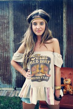 Poor Pitiful Pearl Texas Red Dirt Oxy with by poorpitifulpearl, $42.00 (Diy Clothes Hippie)