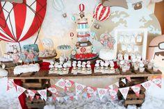 Rustic Hot Air Ballon  Birthday Party Ideas   Photo 19 of 26