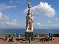 """Estátua de """"João Rodrigues Cabrilho"""". # San Diego, Califórnia. USA."""