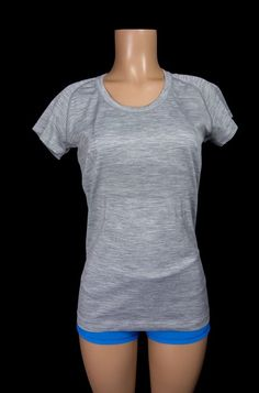 LULULEMON Run Swiftly Tech Short Sleeve Scoop 10 M Heathered Gray Yoga Top #Lululemon #ShirtsTops