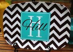 Chevron Platter-these are a great to use for a display in your kitchen but also durable enough for everyday use!  http://www.lollipopinkdesigns.com