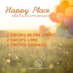 Today I hope you can enjoy the glory, blessings and the happy things in your life! Here is a GREAT way to kick off the day with the Happy Place Essential Oil Diffuser Blend made with 2 drops of peppermint, 2 drops of lime and 2 drops of Essential Oil Nebulizer, Essential Oil Diffuser Blends, Doterra Essential Oils, Natural Essential Oils, Doterra Diffuser, Lime Essential Oil, Yl Oils, Aroma Diffuser, Sent Bon
