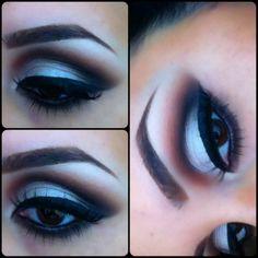 Cut crease retro makeup