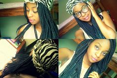 scarf on box braids