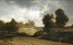 Sunday Afternoon, View at Fordham, 1878, oil on canvas, David Johnson, American, 1827-1909, Betty Krulik Fine Art, Ltd. And MME Fine Art, LLC.  In the nineteenth century, American artists looked with pride to the untouched wilderness that was so different from the long-lived-upon land of their European ancestors. In a country with only a brief past to showcase, landscape painting became more important than history painting.