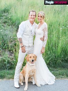 "PHOTOS: Inside Tyler Hubbard and Hayley Stommel's Big Wedding Day | SIT, RING BOY, SIT | The couple's golden retriever, Harley, served as the ring bearer. ""He did a great job,"" says Stommel. ""He wanted to say hi to everybody. Zig-zagging through the aisle, trying to see everybody. He was sweet."""