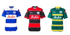 Queens Park Rangers Home & Away Kits 2013-14 Championship League, Queens Park Rangers, Soccer Jerseys, Football Kits, Home And Away, Sports Shirts, Baseball, People, Design