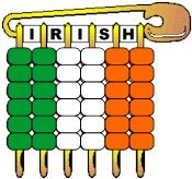 Pony Bead Flag of Ireland. Wear these during your St. Patrick's Day Parade. Get the complete kit on MakingFriends.com