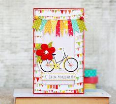Special Day Cards: Задание № 147 Открытка на день рождения с флагами