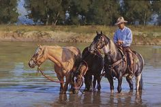 """Calm Waters"" by Jason Rich (Cowboy Artist)"