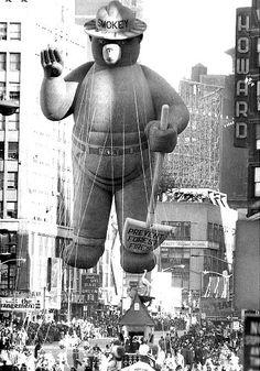 Vintage 1966, Smokey the Bear, Macy's Thanksgiving Day Parade, NYC, www.RevWill.com