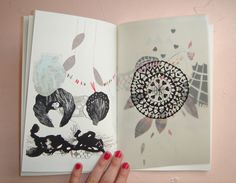 """""""This zine is even more perfect irl."""" (Perfect for the sketchbook collaboration project! ;)"""