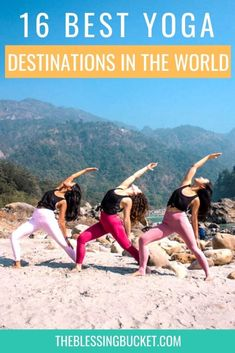 This article shares 16 best yoga destinations in the world. No matter which continent you visit, you can find amazing places to practice yoga. #wellnesstravel #yogaholiday #yogadestination #selfcare #wellnesstrip