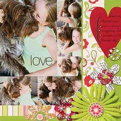 Floral Dog Layout