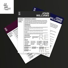 Easy to use resume template, perfect for anyone looking to update their current resume. Let's get away from old dated styles and welcome in a more modern College Resume Template, Modern Resume Template, Cv Template, Creative Resume Templates, Design Templates, Resume Cv, Resume Tips, Resume Design, Resume Examples