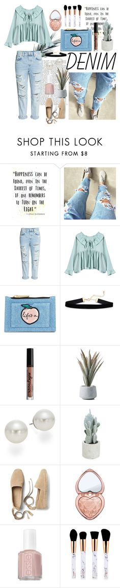 """""""Life's a peach"""" by averytheleapinglizard ❤ liked on Polyvore featuring H&M, Skinnydip, NYX, AK Anne Klein, Allstate Floral, Gap, Too Faced Cosmetics and Essie"""