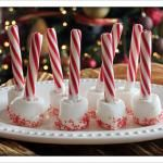 Marshmallow dipped in white chocolate and sprinkled in red sugar