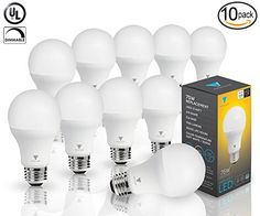 Triangle Bulbs (Pack Of 10) 12 Watt A19 LED Bulb, 75 Watt Incandescent Bulbs Replacement, 1055lm, Soft White, Dimmable, Triangle Bulbs http://www.amazon.com/dp/B00JVTJ5HA/ref=cm_sw_r_pi_dp_-IQNwb1GPBKX0