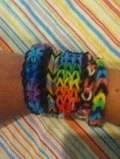 Rainbow loom starburst, fishtail, triple single, single, extra thick single. #DIY #Bracelets #Rainbowloom