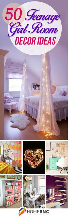 Teen Girl Bedroom DIY ideas to decorate and organize!! lots for photos!! really good ideas!
